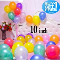 "10 Pack Pearl Metallic Latex Balloons 10"" Helium Wedding Party Baloons BallonsUK"