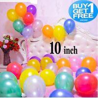 "10 Pack Pearl Metallic Latex Balloons 10"" Helium Wedding Party Baloons BallonsUK"