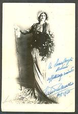 CLAUDIA MUZIO AT BUENOS AIRES 1935 HAND SIGNED PHOTO