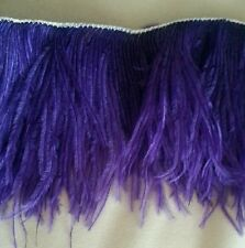 OSTRICH FEATHER COSTUME FRINGE puple  11/8 YD X  6.5""