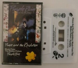 Prince & Revolution - Purple RAIN- CASSETTE TAPE! TAPE AND INLAY GOOD CONDITION!
