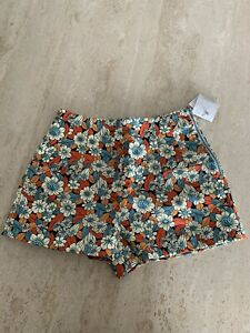 Zara Floral Pattern Shorts Sz XS