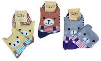 CHEX Socks Ladies Womens Cute Pig Stripey Fun Novelty Ankle Socks Size UK 2-5