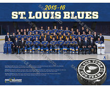 2015-16 ST. LOUIS BLUES HOCKEY 8X10 TEAM PHOTO
