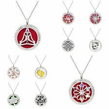 1set Crystal Aromatherapy Diffuser Locket Essential Pendant with 80mm necklace