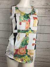 NICKI MINAJ Love Floral Tank Top Size Medium Black Summer *3