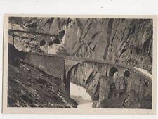 Teufelsbruecke & Schoellenenbahn [28664] Switzerland Vintage RP Postcard 318b