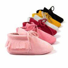 Baby Tassel Soft Sole Suede Shoes Infant Toddler Newborn Unisex Moccasin Shoes