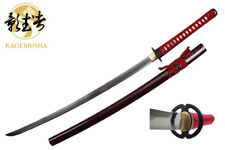 Kagemusha 1060 Carbon Steel Full Tang Japanese Katana Sword Musashi Tsuba NIB