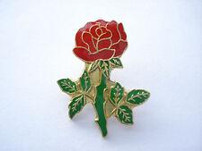 CHRISTMAS SALE VINTAGE RED ROSE FLOWER ENGLAND BRAND GB NEW ENAMEL PIN BADGE 99p