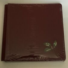 NIP Creative Memories 12x12 Old Size Red Christmas Holly Leaf Scrapbook Album