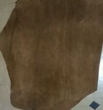 Cow Hide Leather sheet Brown, Suede Leather Sheet Size 2 × 2 square foot approx