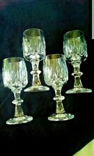 "Crystal Aperitif Liqueur Sherry Cordial 4.5"" Glasses Set of 4 Perfect Condition"
