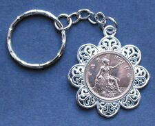1928 90th birthday Lucky Farthing Pendant Charm key ring present + free gift box