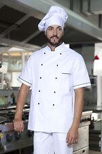 Chef Jacket Vest, Chef Man Woman Cooking Uniform Cotton Working Sleeve