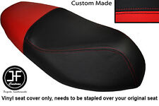 BLACK & RED VINYL CUSTOM FITS APRILIA SPORTCITY 50 2T 08-12 DUAL SEAT COVER ONLY