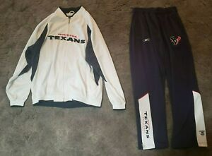 Houston Texans NFL Men's Full Zip On Reebok Shell Jacket & Pants Large