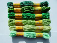 DMC TAPESTRY THREADS 6 colors GREENS (set D)