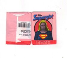 Supergirl One Unopened Packet 6 Stickers Topps 1984