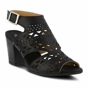 Spring Step Rosemarie Sandals Black New