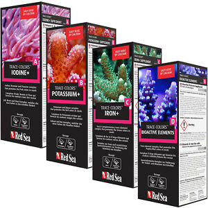 Red Sea Coral Colors ABCD Reef Supplements 4x 500mL Pro Pack Save Buy Wholesale