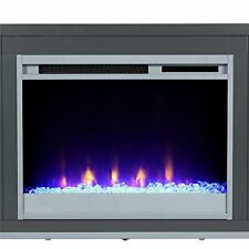 """Ameriwood Home Lumina Fireplace Stand for TVs, up to 70"""", Graphite"""