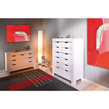 Kommode Sideboard weiß Schlafzimmerkommode Schlafzimmerschrank 8 Schubladen NEU