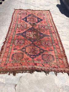 COLLECTORS' PIECE Antique Caucasian Faded Colours Sumak Kilim Rug,Kapkaz Sumak R