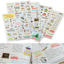 6 Sheets/Kit DIY Calendar Diary Book Sticker Scrapbook Decoration Planner Pop