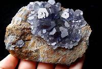 318.9g  NATURAL Blue FLUORITE Quartz Crystal Cluster  Mineral Specimen