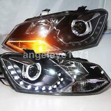 For VW Polo Mk5 Vento Cross polo LED Angel Eyes Headlights 2010-2014 year LD