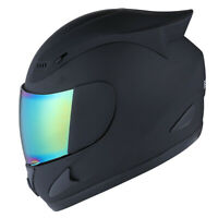 NEW 1STORM DOT MOTORCYCLE STREET BIKE FULL FACE HELMET MECHANIC SKULL MATT BLACK