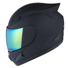New 1Storm Dot Motorcycle Street Bike Full Face Helmet Mechanic Skull Matt Black