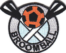 """""""BROOMBALL""""- Iron On Embroidered Applique Patch- Sports, Games, Players, Compete"""