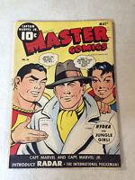 MASTER COMICS #50 CAPTAIN MARVEL, NYOKA begins, RADAR ORIGIN, BULLETMAN, 1944