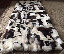 Tapis en peau de mouton motifs Fourrure véritable Housse fauteuil Patchwork
