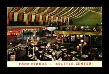 DR JIM STAMPS US FOOD CIRCUS SEATTLE CENTER CHROME INTERIOR VIEW POSTCARD