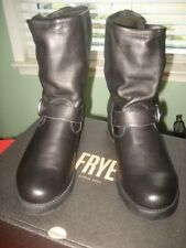 Frye Women's Veronica Short Buckle Moto Boots, Black Leather NEW W/ BOX sz 9.5 B