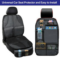Infant Baby Easy Clean Car Seat Protector Watherproof  w/ Backseat Organizer 2PC