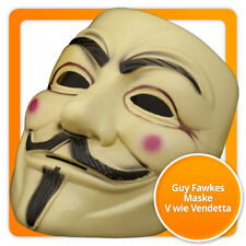 Guy Fawkes Maske Beige V wie for Vendetta Occupy Anonymous Karneval Fasching