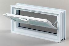 Lüftungsfenster Lüftung 384x189 mm statt 2 Glasbausteinen 19x19cm waagerecht