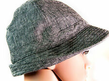 NWT 100% Cotton Gray Off 5th Saks Fedora Hat One Size
