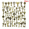 50PCS DIY Mixed Vintage Key Charms Pendant Steampunk Bronze Jewelry Findings  LD