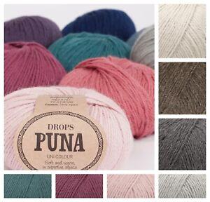 Drops Puna Double-knit DK 100% Superfine Soft Alpaca Knitting Yarn Crochet
