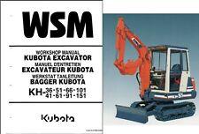 heavy equipment manuals books for kubota excavator ebay rh ebay com Kubota Excavators KX 121 Kubota K008