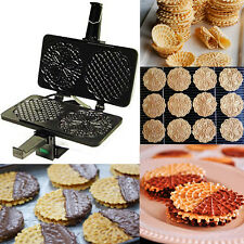 Pizzelle Maker Machine Iron Press Pastry Italian Waffle Cookie Cannoli Cannolo