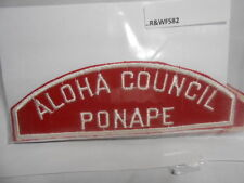 ALOHA COUNCIL PONAPE RED & WHITE STRIP R&WFS82