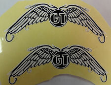 GT Bike Decal Sticker Pair of Wings BMX  Black & White