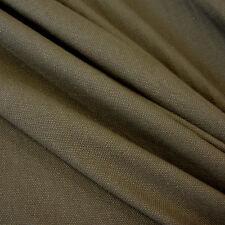 Stoff Meterware Baumwollstoff Canvas Panama Baumwolle stabil oliv grün army