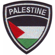 PALESTINE CREST BADGE FLAG EMBROIDERED SEW ON PATCH